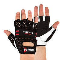 Перчатки для фитнеса и тяжелой атлетики Power System Basic EVO PS-2100 M Black/Red Line