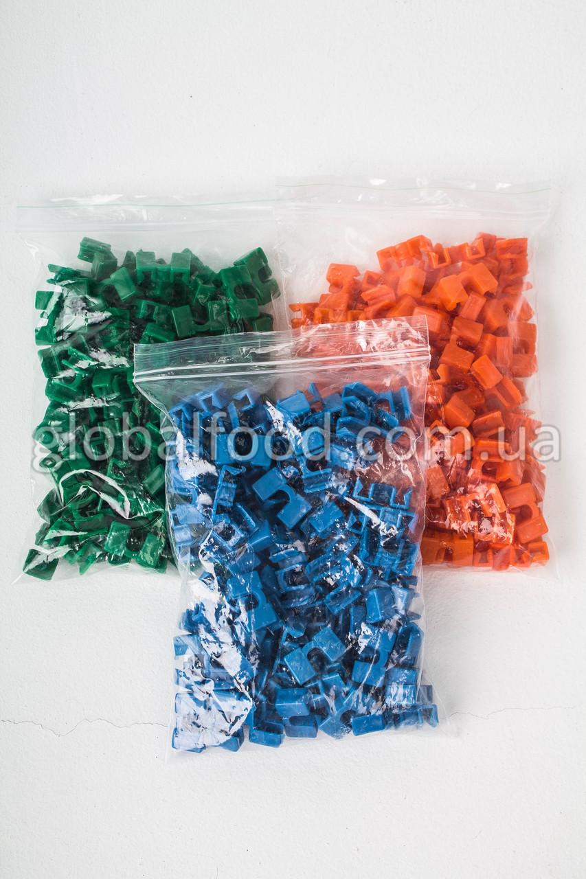 Пластиковые Держатели для Палочек Разноцветные (Зажимы)  (300 шт/уп.)