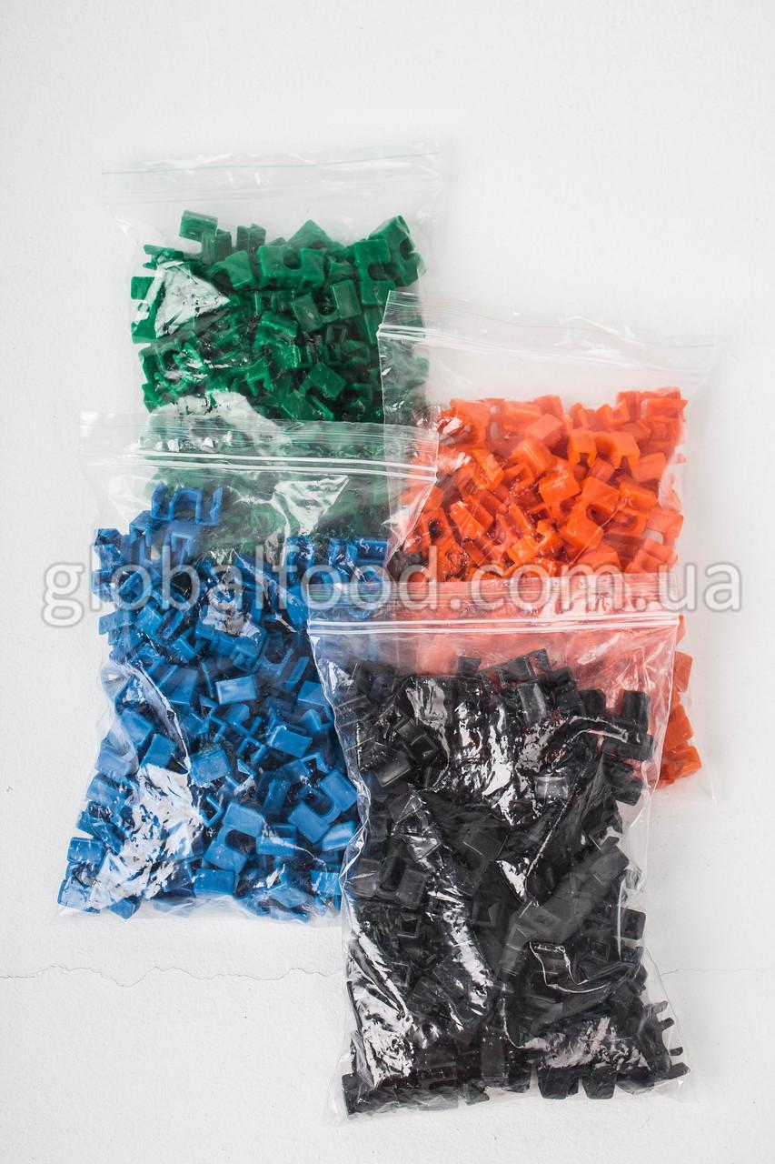 Зажимы Пластиковые  для Палочек Разноцветные  (400 шт/уп.)