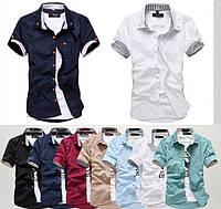 Мужская рубашка с коротким рукавом S, M, L