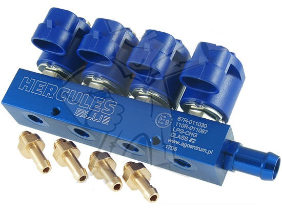 Газовые форсунки Hercules Blue 2 Ом 4 цилиндра
