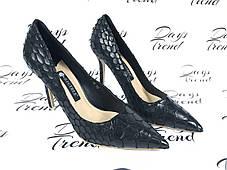 Стильные женские туфли под крокодил, фото 3