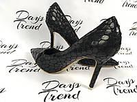 Стильные женские туфли под крокодил