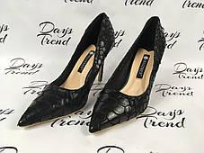 Стильные женские туфли под крокодил, фото 2