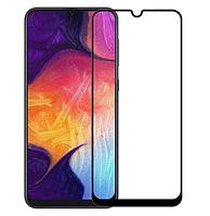 Защитное стекло 9D, 9H Полной оклейки для Samsung Galaxy A30 2019 / Samsung Galaxy A50 2019, Захисне скло