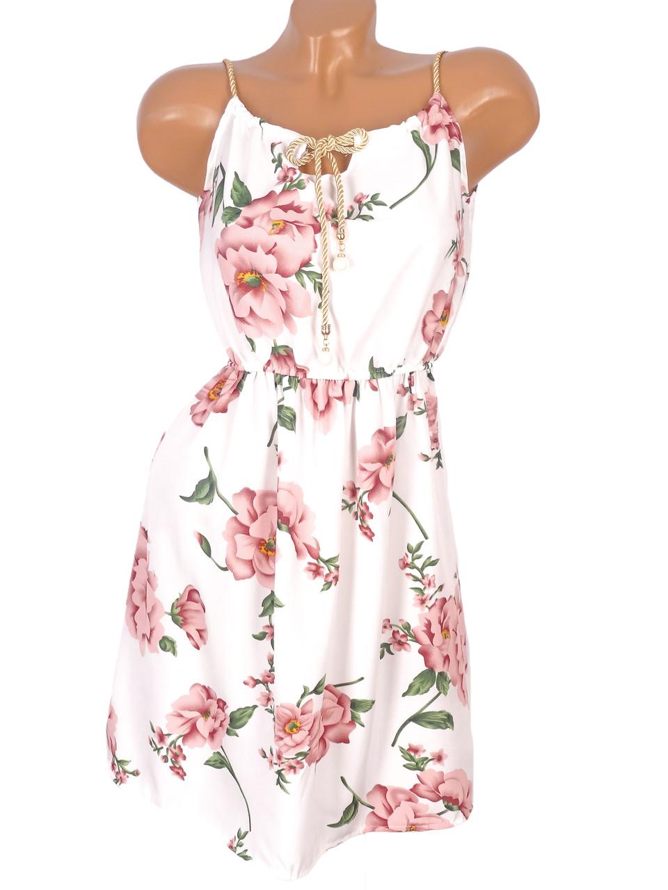 Цветочное миди платье 42-44р