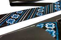"""Мужской вышитый набор: галстук с платком """"Тихомир"""", фото 1"""