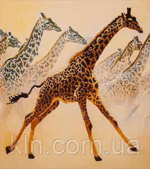 Набір для вишивання бісером FLF-023 Жирафи 40*45 якісний