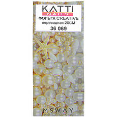 KATTi Фольга переводная 36 069 абстракция камень 20см, фото 2