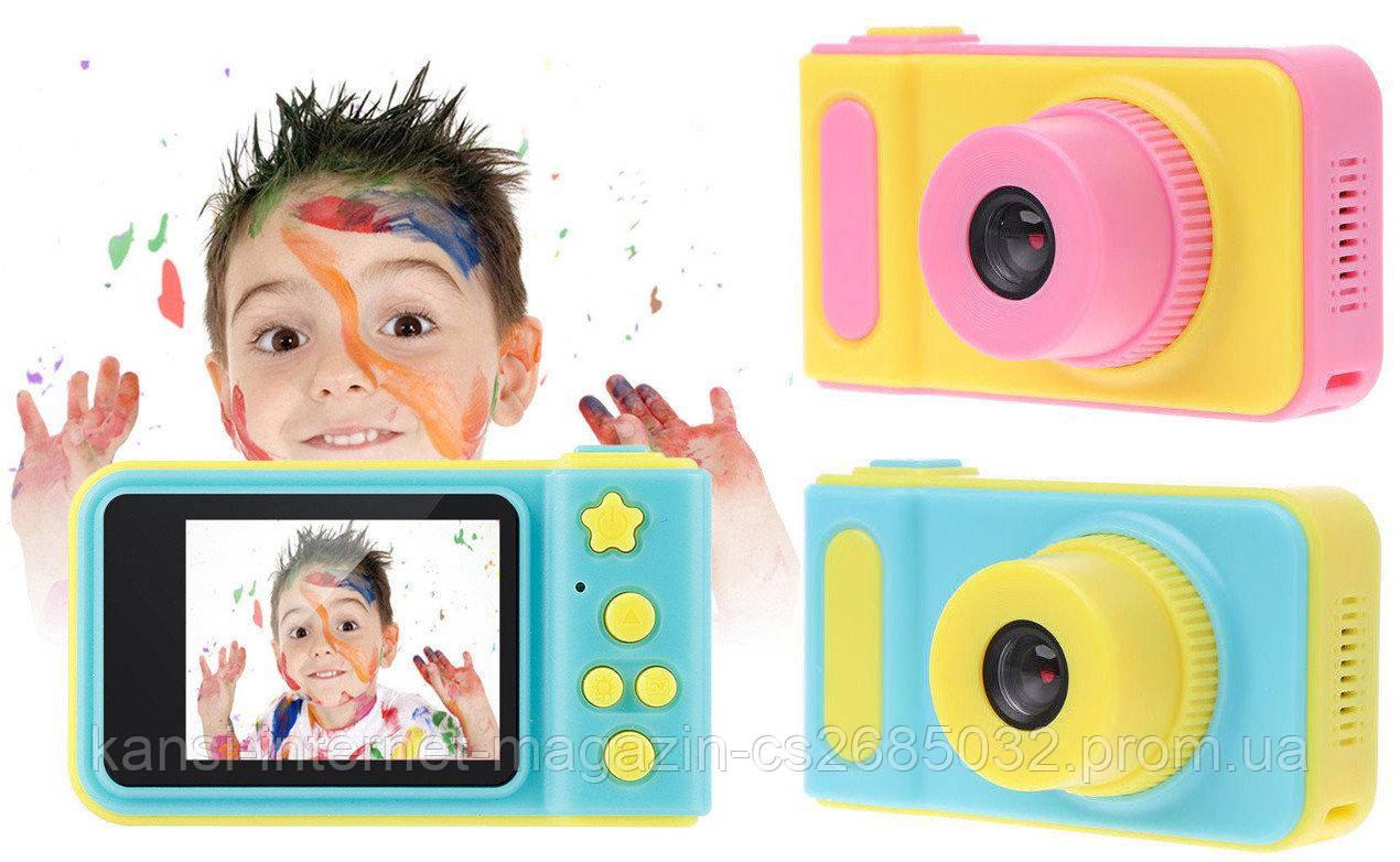 Детский фотоаппарат с записью видео и c цветным экраном dvr baby camera V7