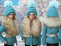 Одежда для кукол Барби - шуба и шапка
