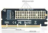 PCI-E x4 x8 x16 - M.2 ( NVMe ) SSD ключ M x4 переходник адаптер низкопрофильный, фото 9