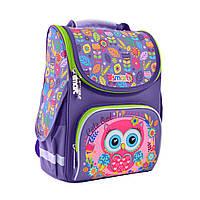 """Рюкзак шкільний,каркасний для дівчинки PG-11 """"Little Owl"""", SMART"""