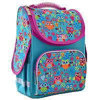 """Рюкзак шкільний,каркасний для дівчинки PG-11 """"Funny owls"""", SMART"""