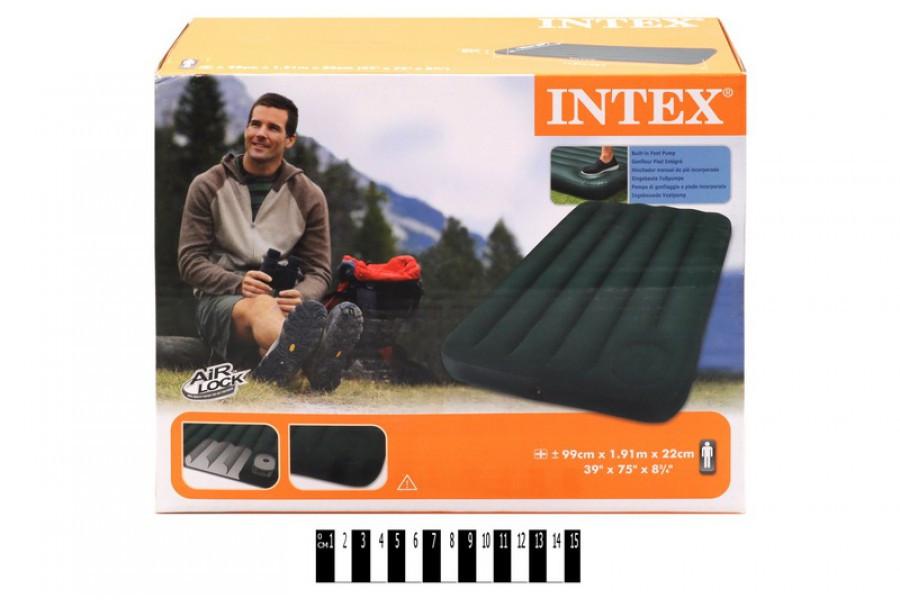 Матрас надувной с насосом Intex Интекс 66927