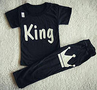 Детский летний костюм для мальчика KING черный
