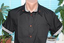 Мужская рубашка с коротким рукавом S, M, L, фото 2