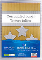 Бумага В4 золото гофрированная 245019 Starpak