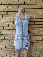 Платье летнее джинсовое стрейчевое модное LDM, фото 2