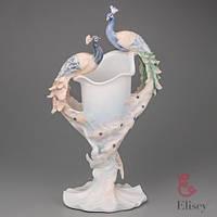 "Фарфоровая ваза Veronese ""Два павлина"" (29 см)"