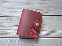 Кожаная визитница для карточек_вместительный картхолдер, кард-кейс