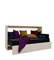 Шкаф кровать трансформер горизонтальная ШКГ1 90 см х 190 см Ваниль (10200)