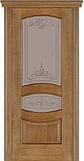 Двері Caro 50, полотно, шпон, дуб браун, даймонд, фото 3
