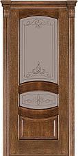 Двері Caro 50, полотно+коробка+1 до-кт наличників, шпон, дуб браун, даймонд, фото 2