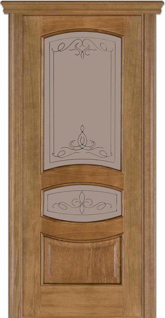 Двері Caro 50, полотно+коробка+1 до-кт наличників, шпон, дуб браун, даймонд