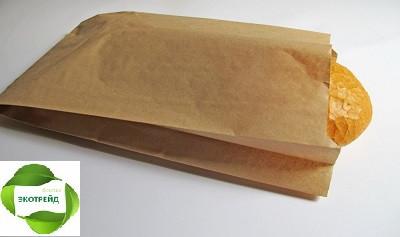 Крафт пакеты 220мм*80мм*380мм бурые, фото 1