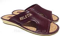 Тапочки Белста бордовые, корок,37-41 размер