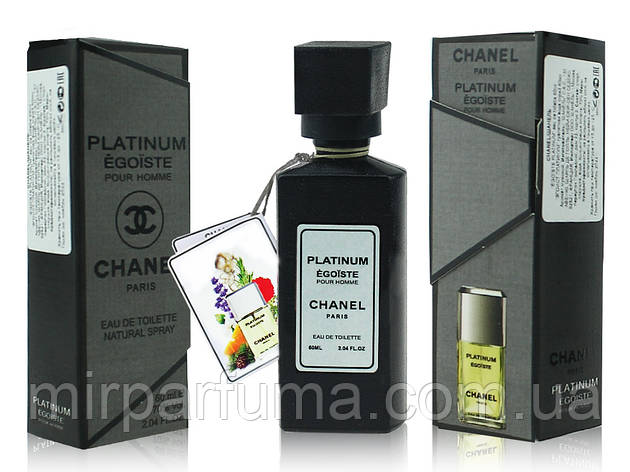 Мужские мини парфюмы реплика Chanel Egoiste platinum 60ml (Шанель Эгоист платинум), фото 2