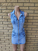 Платье летнее джинсовое стрейчевое модное LDM