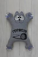 """Іграшка у авто на присосках Кіт Саймона 27 см """"Тормози!"""""""