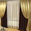 Плотные шторы с тюлем современные новинки, фото 4