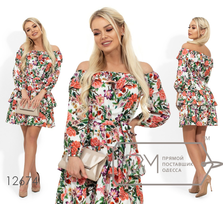 Короткое платье в цветок