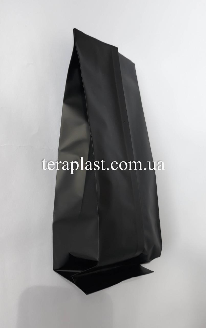 Пакет с центральным швом черный 500г 90х320х30