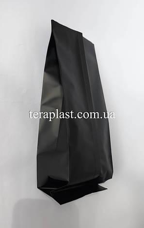 Пакет с центральным швом черный 500г 90х320х30, фото 2