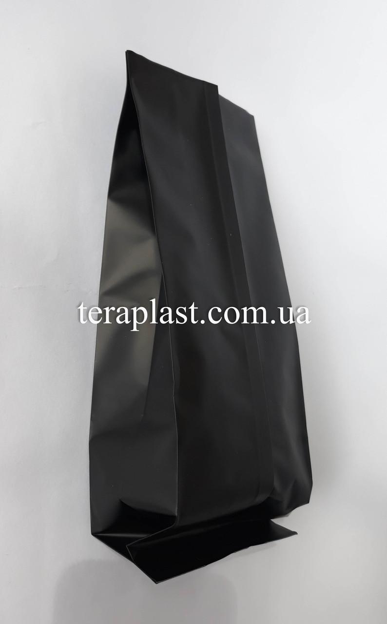 Пакет с центральным швом черный 250г 80х250х32