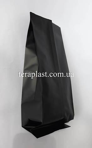 Пакет с центральным швом черный 250г 80х250х32, фото 2