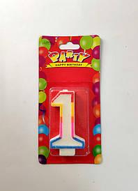 """Свеча для торта цифра """"1"""""""