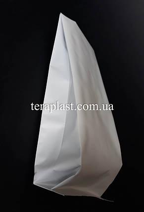 Пакет с центральным швом белый 250г 80х250х32, фото 2
