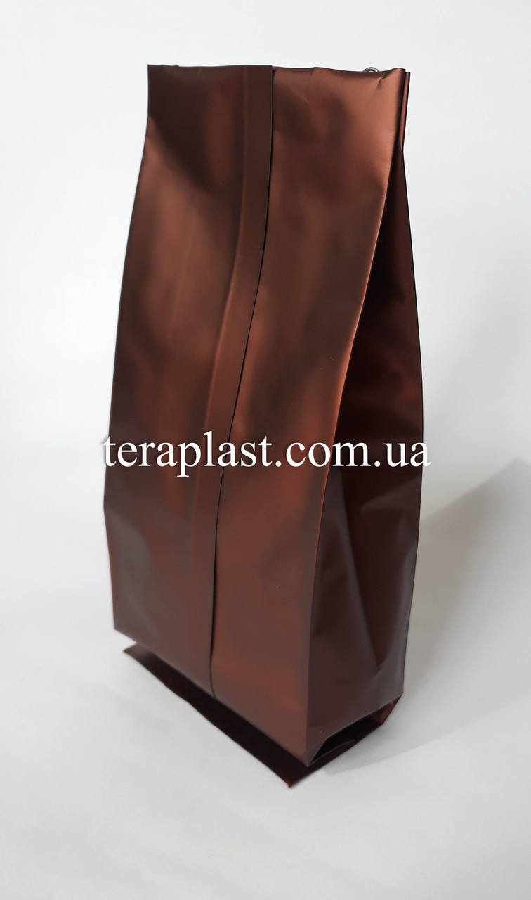 Пакет с центральным швом коричневый 250г 80х250х32