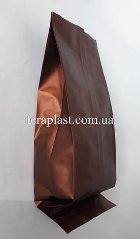 Пакет с центральным швом коричневый 250г 80х250х32, фото 2