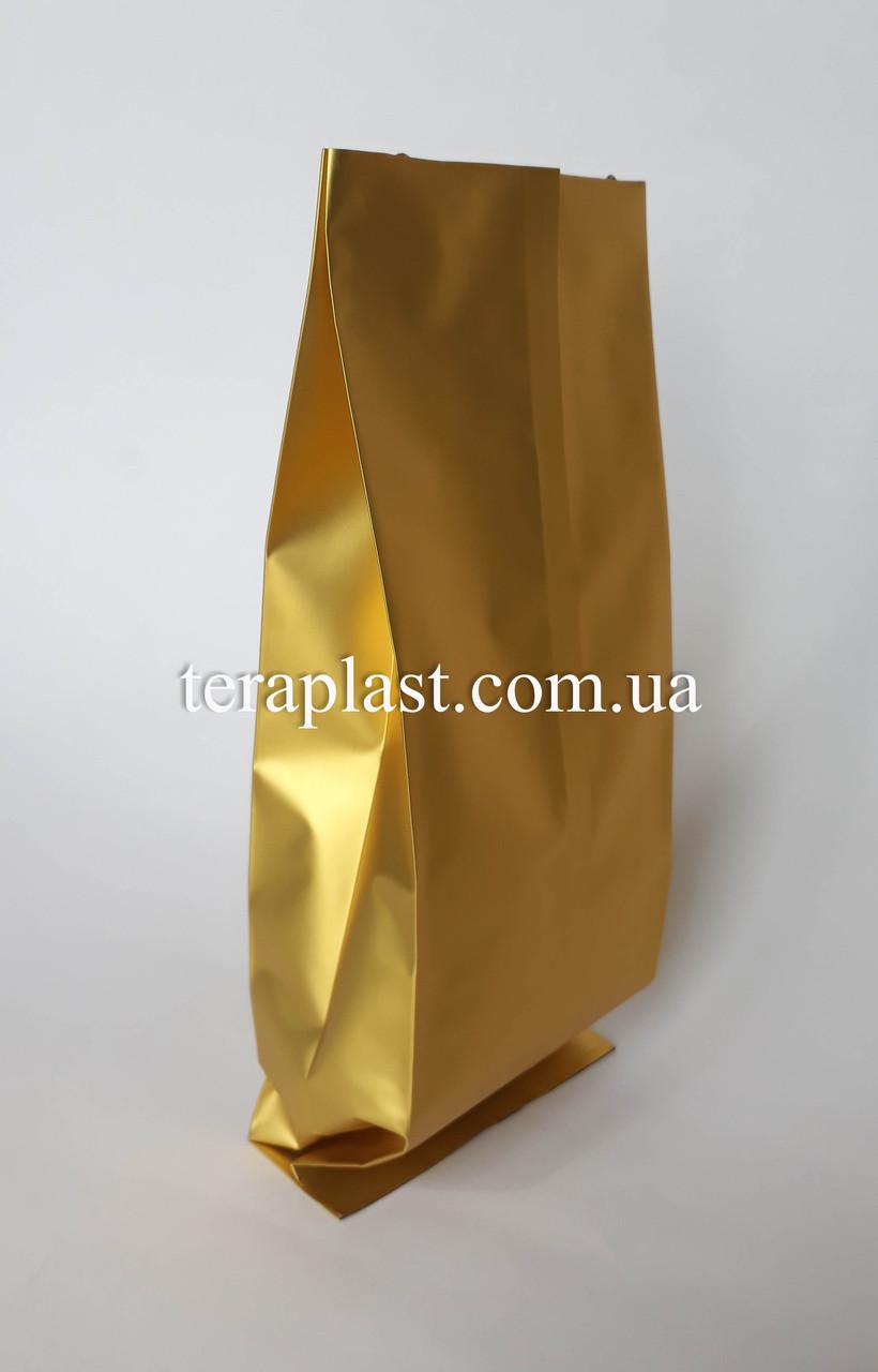Пакет с центральным швом золото 250г 80х250х32