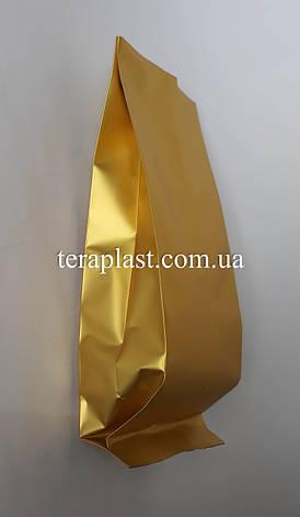 Пакет с центральным швом золото 250г 80х250х32, фото 2