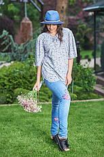 Костюм женский джинсы + блузка, фото 3