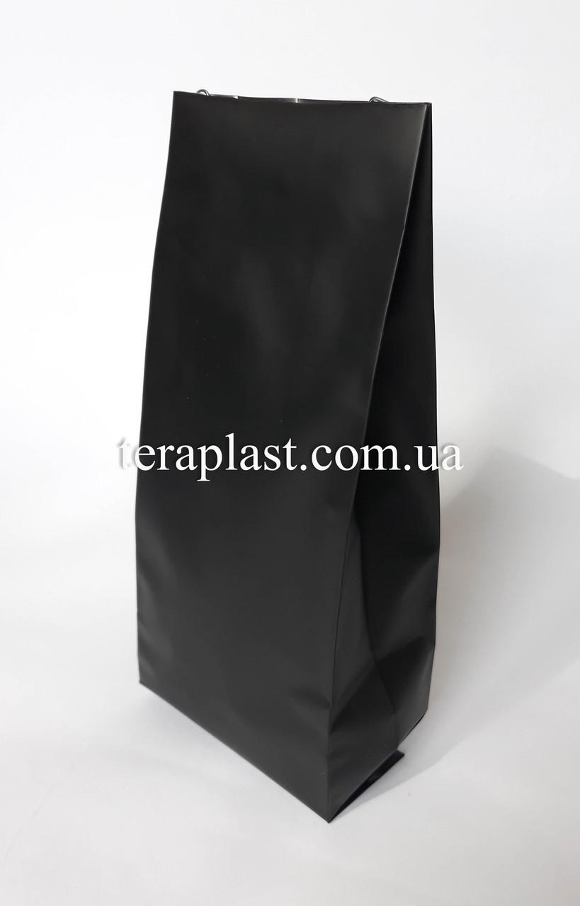 Пакет с центральным швом черный 1кг 135х360х35