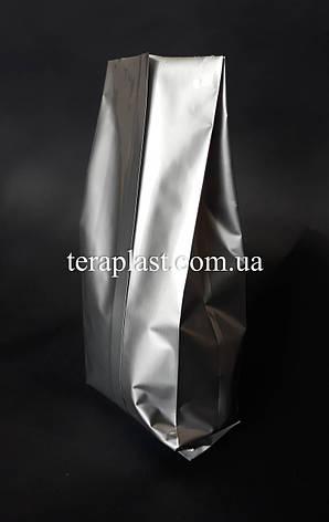 Пакет с центральным швом серебро 500г 90х320х30, фото 2