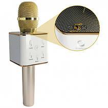 Беспроводной микрофон караоке bluetooth Q7 Золотистый, фото 2